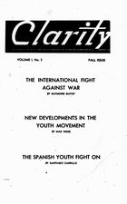 Clarity (periodical), Vol. 1 no. 3, Fall Issue, 1940, Clarity, Vol. 1 no. 3, Fall Issue, 1940