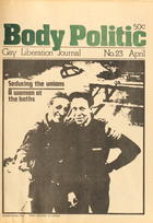 The Body Politic no. 23, March/April 1976