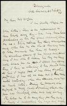 Letter from Robert Anderson to Georgiana McCrae, September 29, 1883