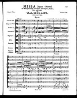 Missa (Spaur-Messe), K. 258, C Major