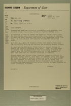 Telegram from Francis H. Russell in Tel Aviv to Secretary of State, April 27, 1954