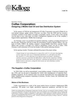 Colfax Corporation: Designing a Middle East Oil and Gas Distribution