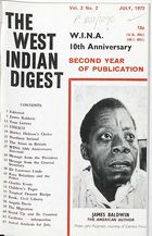 West Indian Digest, July 1972 Vol. 2, No. 2, The West Indian Digest, July 1972 Vol. 2, No. 2