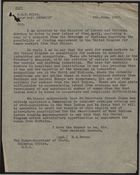 Letter from M. A. Bevan to Undersecretary of State, Colonial Office, re: Employment for Women Workers from Barbados, June 9, 1947