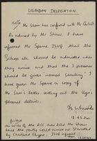 Note from F. E. Whittaker re: Ugandan Delegation, July 12, 1978