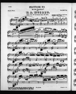 Phantasie No. 2 für das Pianoforte
