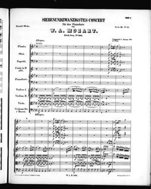 Siebenundzwanzigstes Concert für das Pianoforte