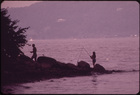 Fishing in the Hudson River from Croton Point Park 08/1973