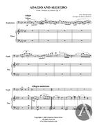 Adagio and Allegro, Euphonium Solo, Op. 4, F Minor