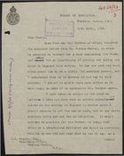 Partial Letter from Board of Education to J. J.  Paskin re: Letter and Book from Marcus Garvey Received by Duchess of Atholl,  April 21, 1928