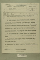 Despatch from Francis H. Russell in Tel Aviv re: News Reports on Border Developments, Oct. 4, 1954