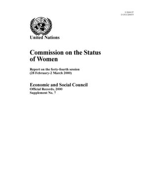 Report on the 44th Session, New York, 28 February-2 March 2000