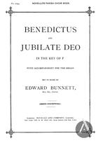 Benedictus and Jubilate Deo, F Major