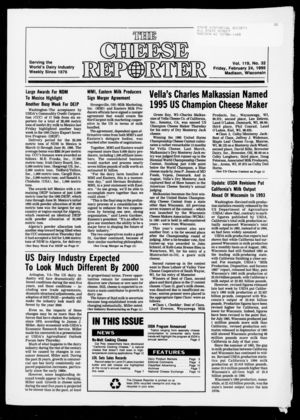 Cheese Reporter, Vol. 119, no. 32, February  24, 1995
