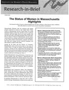 Research in Brief: The Status of Women in Massachusetts, Highlights, 2002