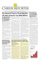 Cheese Reporter, Vol. 138, No. 11, Friday, September 6, 2013