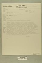 Telegram from Bennett in Tel Aviv to United States Information Agency, May 8, 1956