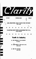 Clarity (periodical), Vol. 3 no. 4, Winter Issue, 1942-1943, Clarity, Vol. 3 no. 4, Winter Issue, 1942-1943