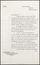 Letter from F. Gordon Rule to His Excellency the Secretary of State of the Republic of Liberia, January 16, 1930