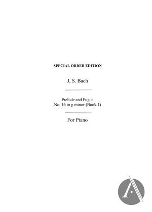 Bach Prelude No 16 In G Minor Piano, BWV 861, G Minor | Alexander