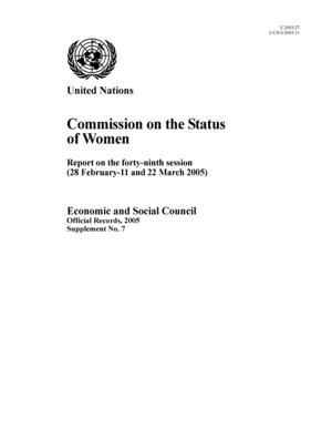 Report on the 49th Session, New York, 28 February-11 and 22 March 2005