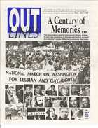 OUTLINES The Weekly Voice of the Gay, Lesbian, Bi & Trans Community Serving the Community Since 1987 Dec. 29, 1999