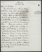 Letter from Wilbraham Lennon to Sir Lintorn, November 21, 1877