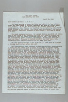 Letter from Carrie Chapman Catt to Members of NAWSA, April 27, 1945