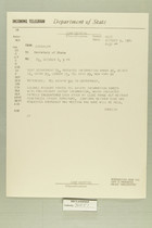 Telegram from Eric Wendelin in Jerusalem to Secretary of State, October 9, 1960