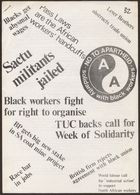 Anti-Apartheid Movement paper, re: British labour against apartheid, circa 1977