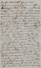 Letter from Catherine Leslie to Jane Davidson Leslie, April 18, 1845