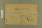 Blank Registration Card from Public Safety Branch to Intelligence Division, September 27, 1949