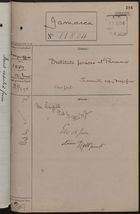 Correspondence Cover Sheet re: Destitute Persons at Panama, June 12, 1889