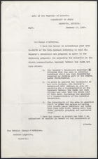 Letter from Edwin Barclay to The British Charge d'Affaires, January 17, 1930