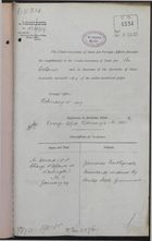 Correspondence re: Jamaican Earthquake Assistance Rendered by United States Government, January 24-February 20, 1907