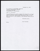 Copy of Letter from Ruth Benedict to William E. Lingelbach, November 11, 1946