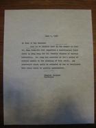 Stanley Milgram to Whom It May Concern, June 1, 1964
