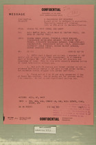 Confidential Message from USARMA Tel Aviv Israel, SGD Query, to DEPTAR Wash DC for ACSI, AFOIN, & CNO, September 12, 1956