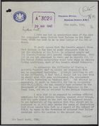 Letter from G. Gater to David Scott re: No Objection to Propaganda Plan; Trouble Among B.W.I. in Canal Zone Due to U.S. Attitudes Toward Coloured People; Dissatisfaction with Living Conditions, March 25, 1943