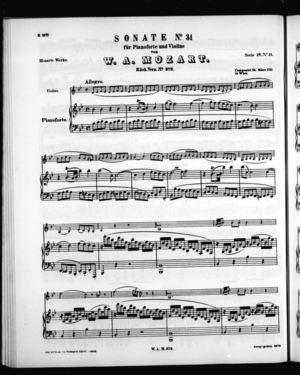 Sonate No. 31 für Pianoforte und Violine