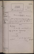 Colonial Office Correspondence Register, re: Letter from Foreign Office on Claims of Foreigners Resident in Panama for Losses During Recent Civil War, with Related Minutes, February 14, 1905