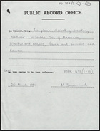 List of News by Sir Lintorn Simmons on Affairs in East, Forwarded in Compliance with Instructions of S.S.W.