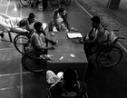 Afternoon is a favorite part of the day to the patients, at The Centre for the Rehabilitation of the Paralyzed, or CRP, located in Savar, 25 kilometer north from Dhaka city. Savar, Dhaka, Bangladesh. August 13, 2008. (photo)