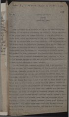 Letter from Constantine Graham to A. Percy Bennett re: Collapse of Strike, March 4, 1920