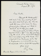 Letter from Franz Boas to Ruth Benedict, August 9, 1940