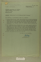 Memos re: Bavarian/Czech Frontier, September, 1949