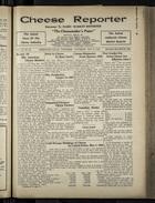 Cheese Reporter, Vol. 54, no. 36, Saturday, May 17, 1930