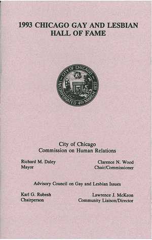 1993 Chicago Gay and Lesbian Hall of Fame