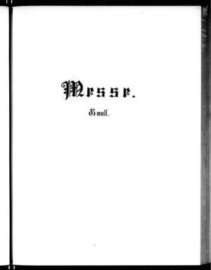Missa, BWV 235, G Minor