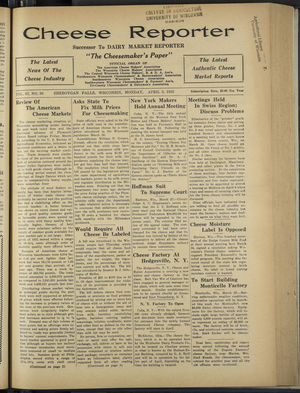 Cheese Reporter, Vol. 57, no. 30, April 3, 1933